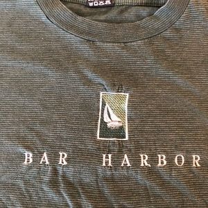 Bar Harbor 90s striped L striped shirt Tourist